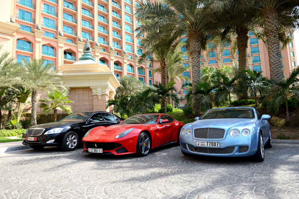 How do prices of luxury rental cars compare
