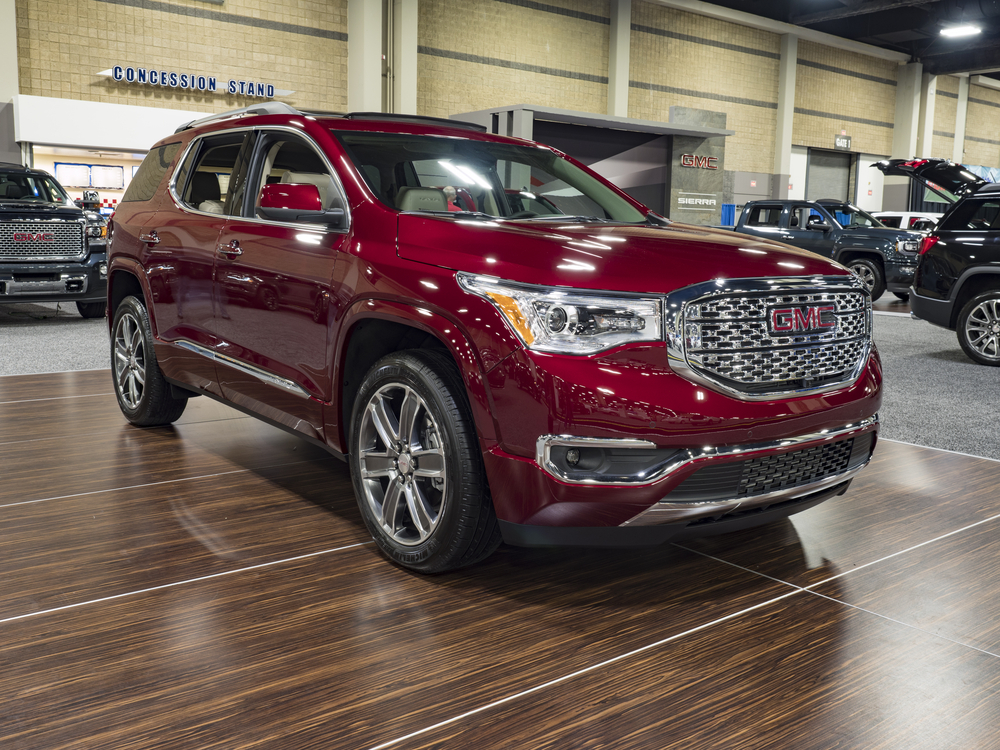 The Inside of the GMC Acadia in 2016 and 2017