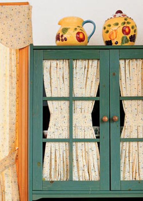 Make Cabinet Curtains