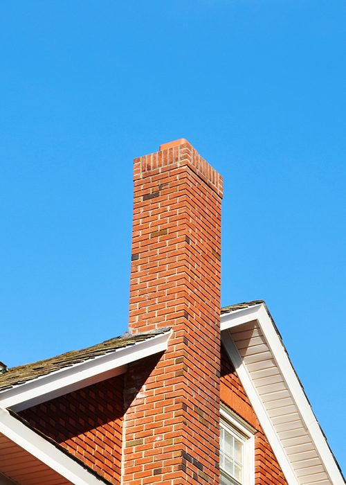 You see wear around your chimney