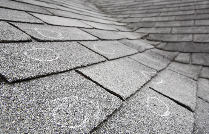 Your shingles are curling