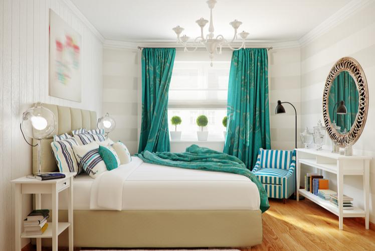 Linen curtains-bedroom