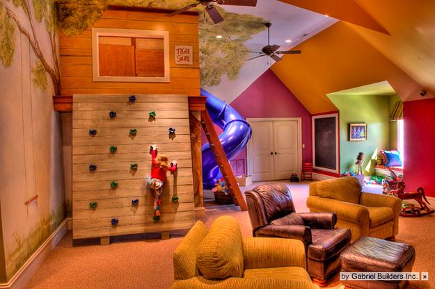 climbing wall bedroom