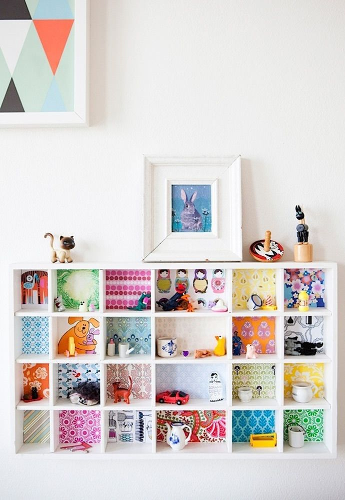 Brighten up a bookshelf