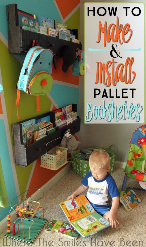 Pallet Wood Bookshelves