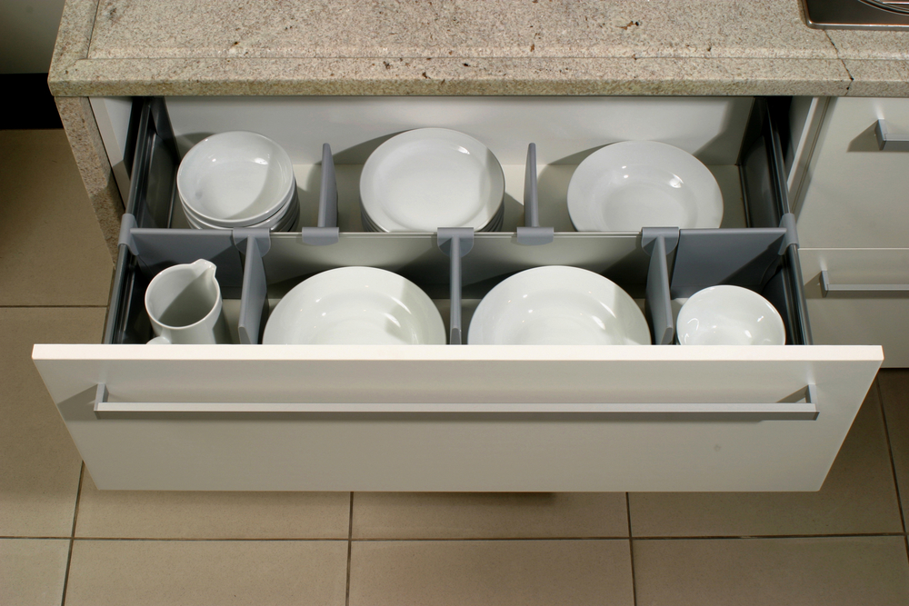 Store your plates in a drawer