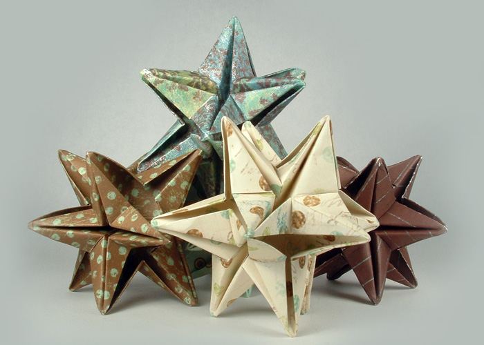 Create some colorful origami