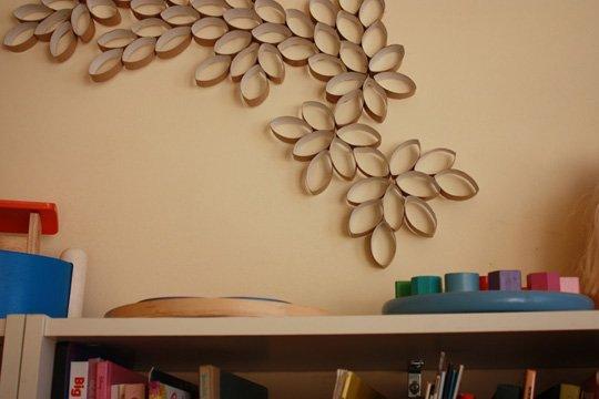 Design cardboard tube artwork