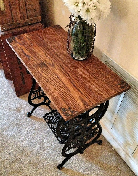 Turn an old sewing machine into a table