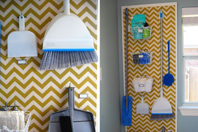 Build a laundry room pegboard