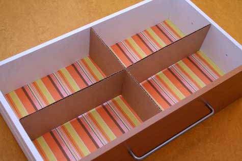 Divide your dresser drawers with cardboard
