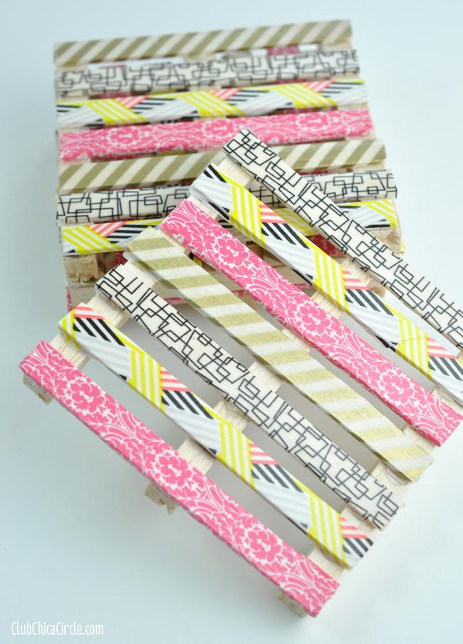 Mini Pallet Washi Tape Coasters