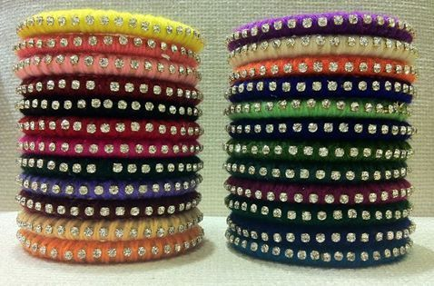 Thread and Pearl Bangles