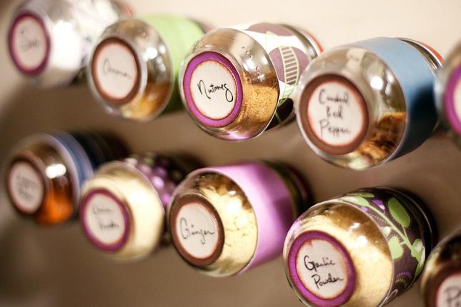 Use magnetic spice jars