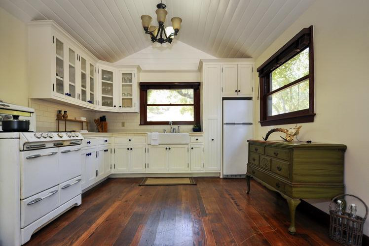 Install white cabinets
