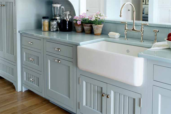Leave room for a farmhouse-style sink