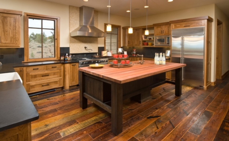 Use distressed wood