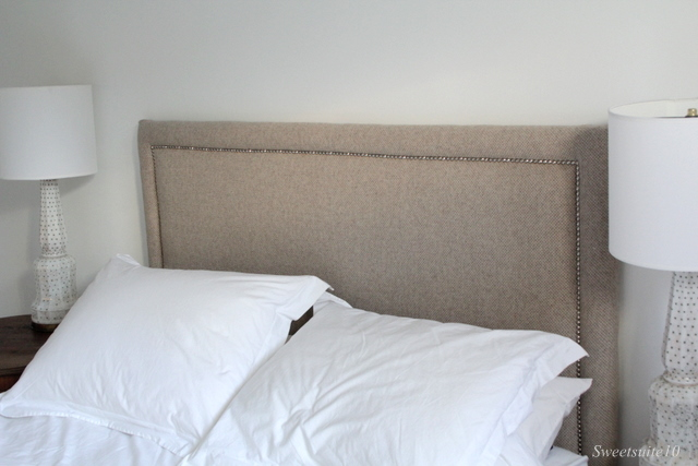 Upholstered Headboard with Nailhead
