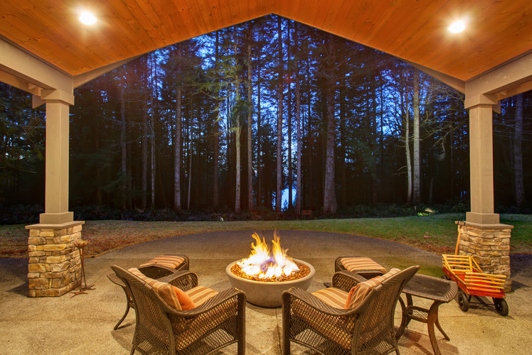 Fire pit or BBQ natural gas line