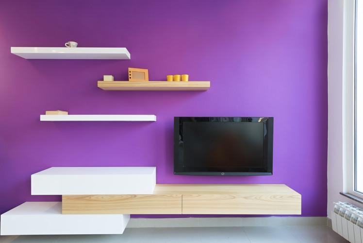 Install wall-mounted shelving