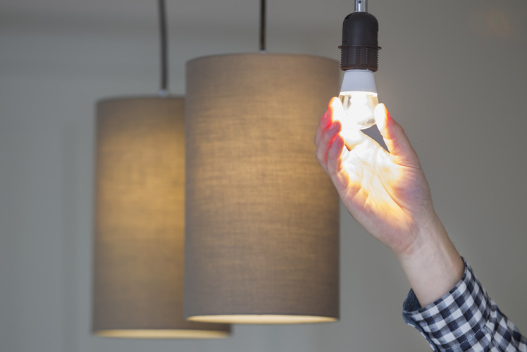 Use bright, white lightbulbs