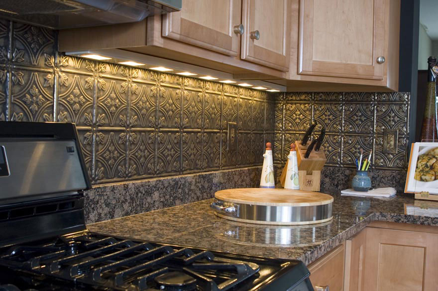 Update your home by installing a new backsplash