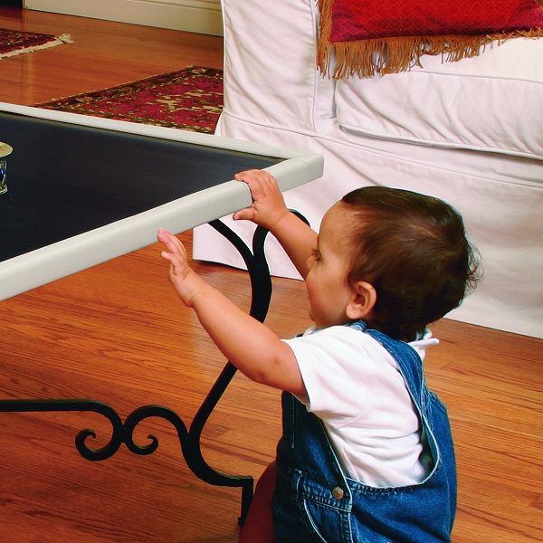 bumpers on your coffee table protect your baby from dangerous corners