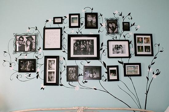 Favorite Photos into tree wall art