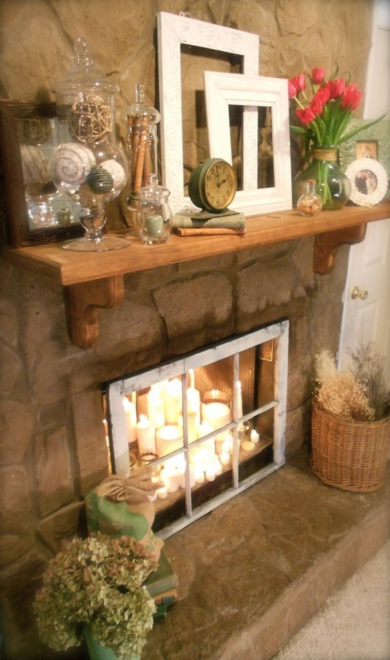 Create a window in your unused fireplace