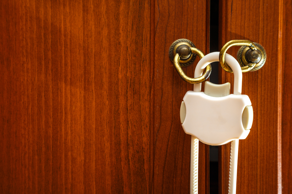 lock cabinets to protect your baby from ingesting dangerous chemicals