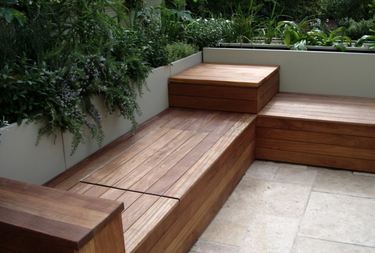 patio storage bench plans