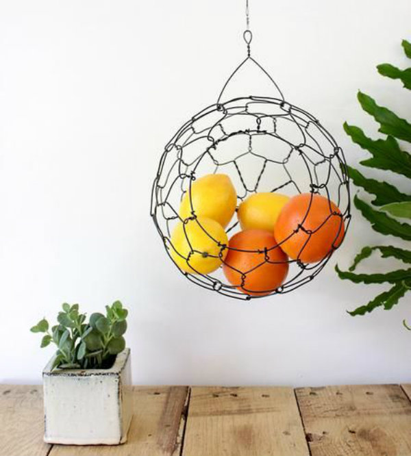 Chicken Wire DIY Craft Ideas Hanging Basket