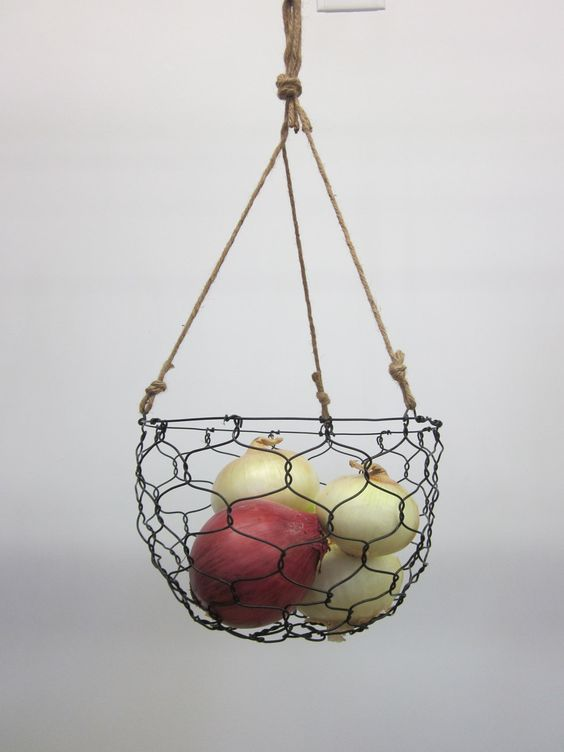 Chiken wire hanging basket