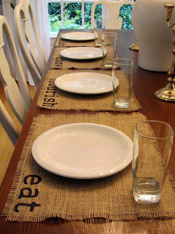 Create one-of-a-kind place mats