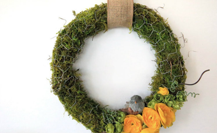 Rustic Moss Wreath
