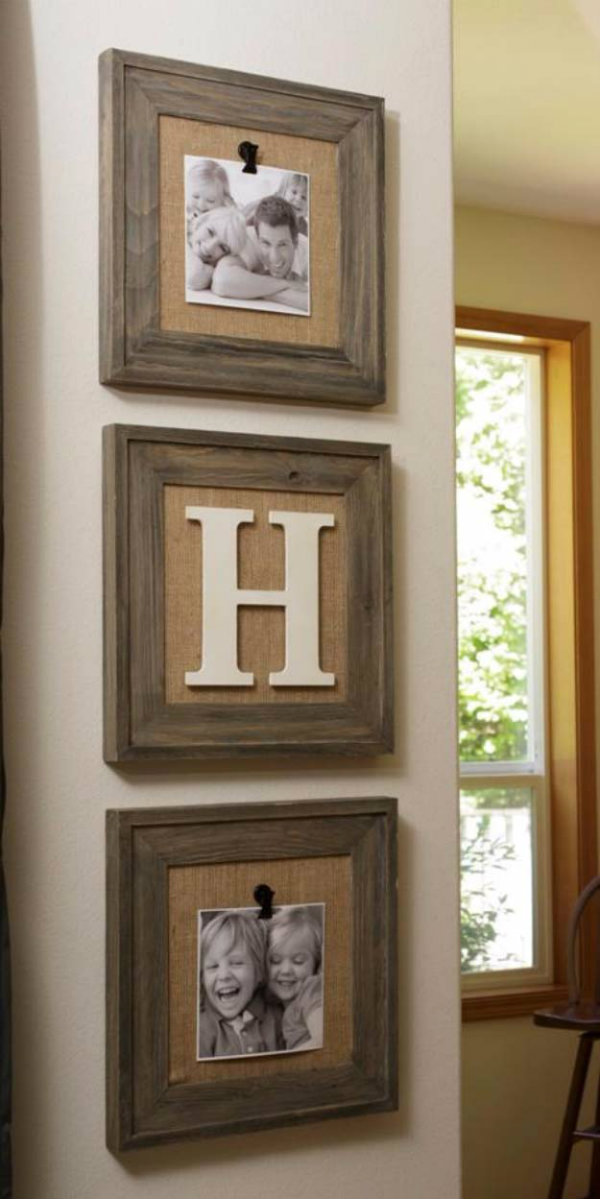 Simple burlap projects to try - Fill your frame space