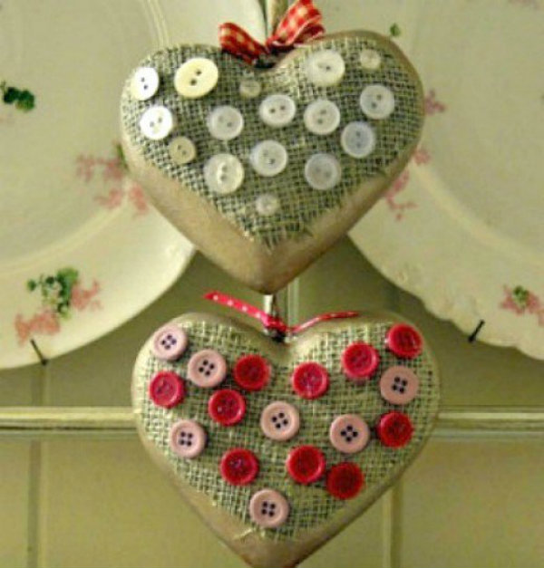 Try your hand at button hearts