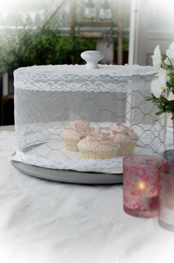 Tulle Cake Stand Cover