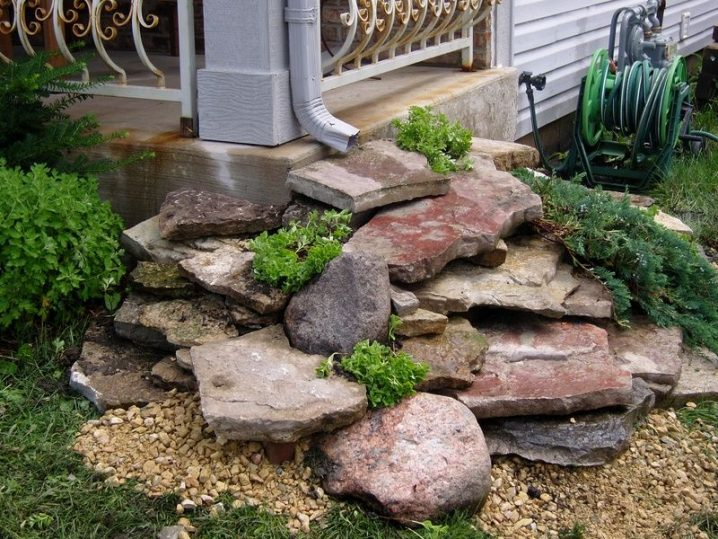 make a rock waterfall