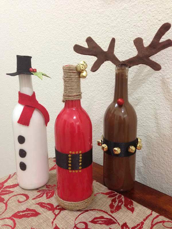 Bottle Santas