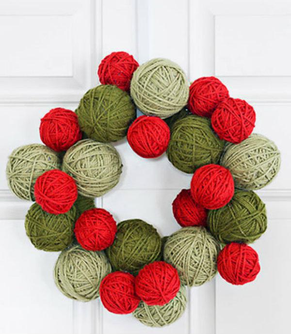 Knit a wreath