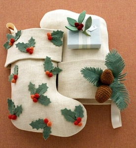 Pinecone Stocking