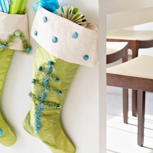 Tinsel Tree Stockings
