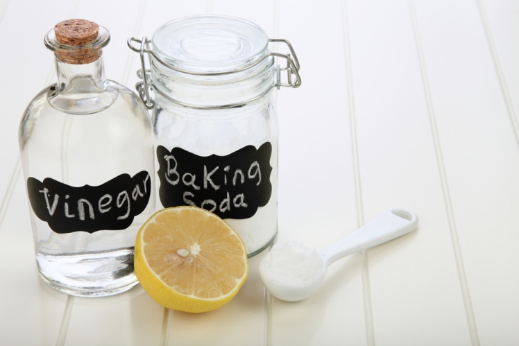 Try a combination of vinegar and baking soda