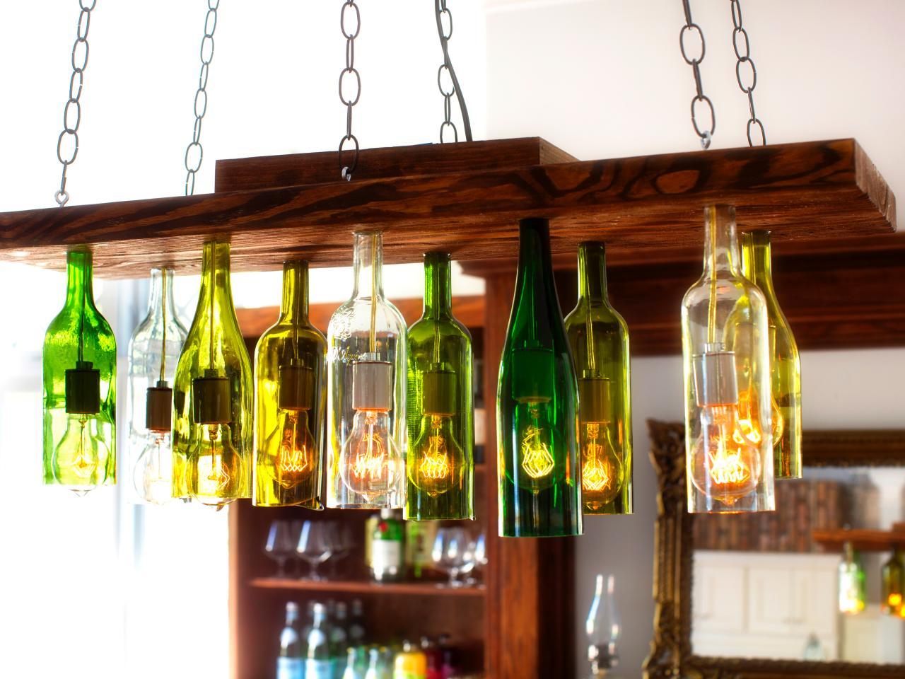 Bottle chandelier