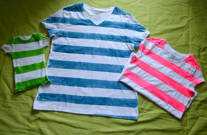 Neon striped tshirts