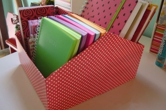 Shoebox file caddy