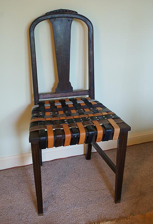 Woven belt chair
