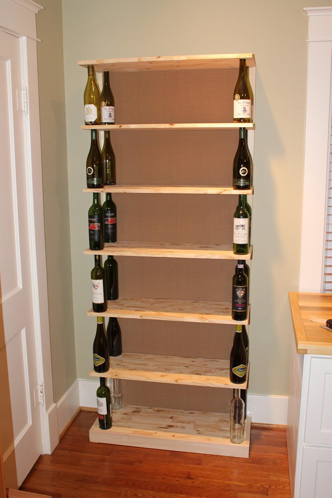 wine bottle bookshelf