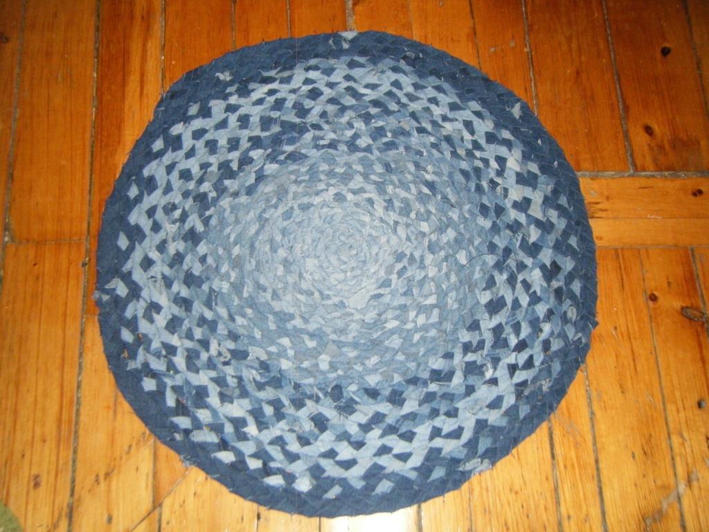 braided denim rug
